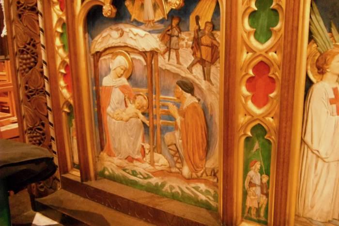 St Mary's altarfront - Nativity