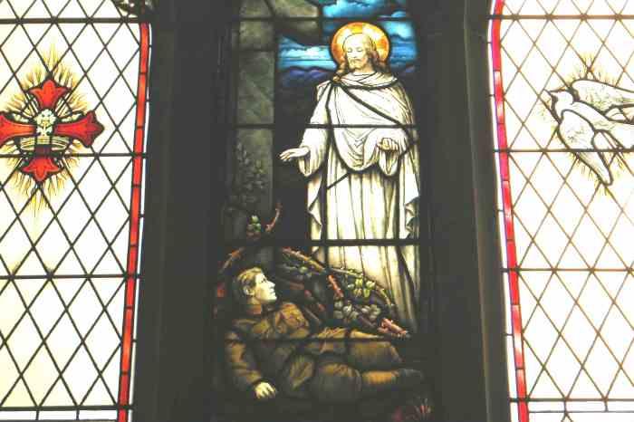 Great War window at St Alkmund's