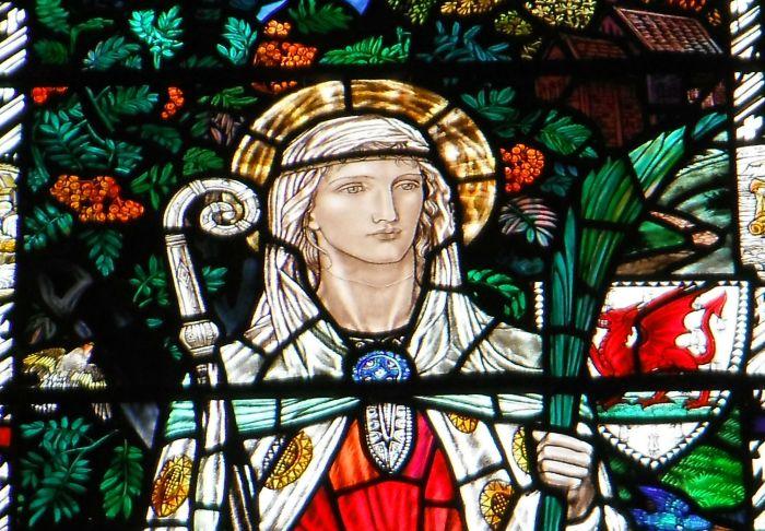 Saint Winifrede glass, Newport Church