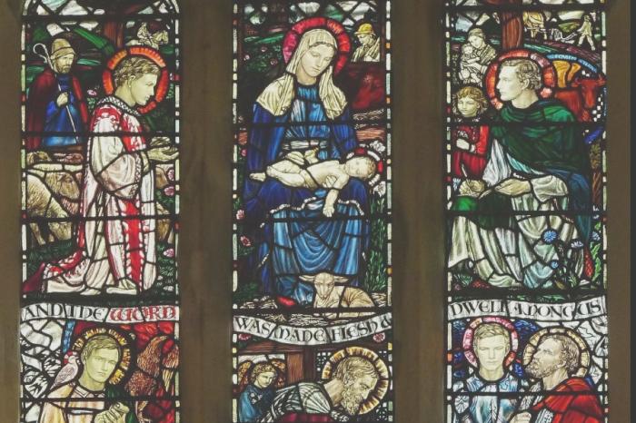 Blaxhall Madonna and saints window