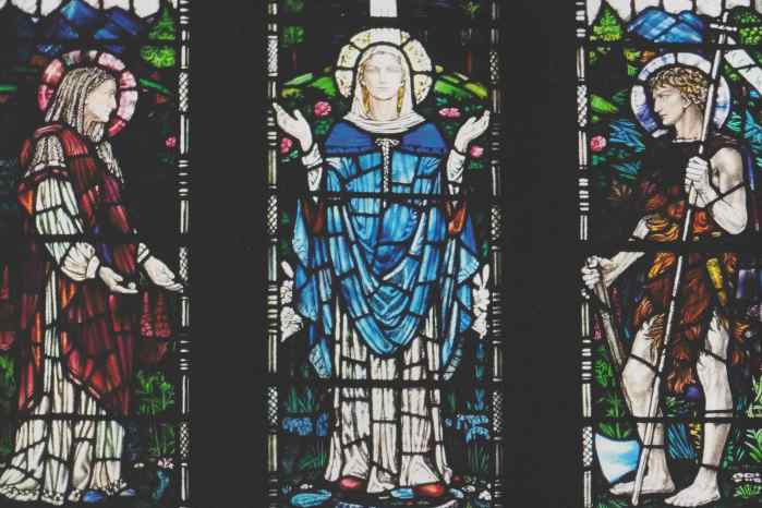 Oxton Church stained-glass