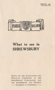 'What to See in Shrewsbury' map, 1950s