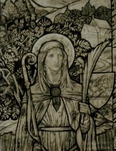 St Winefride cartoon from Holywell