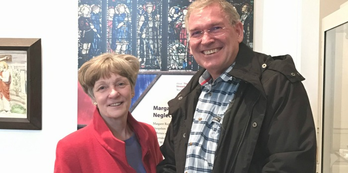 Christine Holmes (Shropshire High Sheriff) and Fr Robert Cross