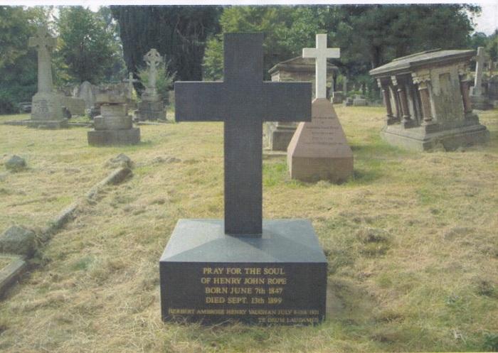 Rope family grave, Shrewsbury Cemetery