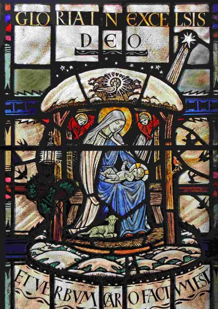 Quidenham Paris / Midwinter Madonna window, copyright John Salmon