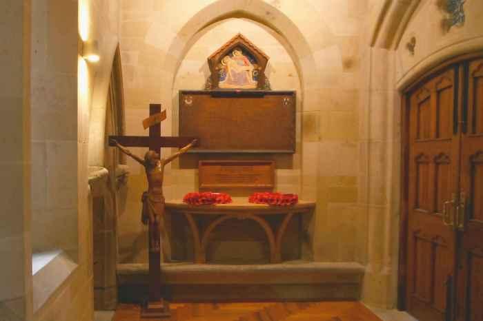 Shrewsbury Cathedral war memorial chapel