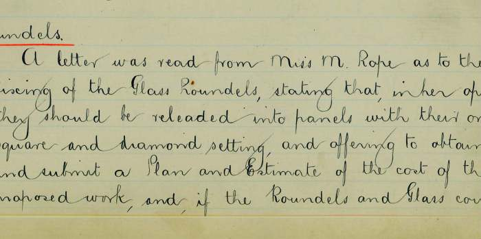 Roundels: minutes extract