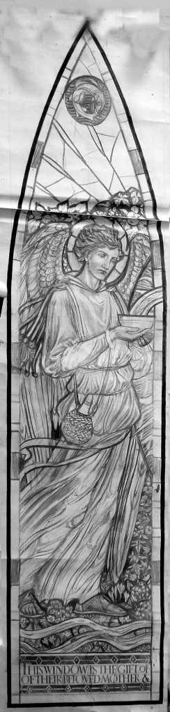 Lambeth Saint Raphael cartoon